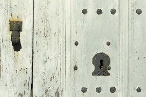 old vintage wooden door , background