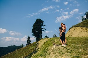 Photo of a couple in the mountains