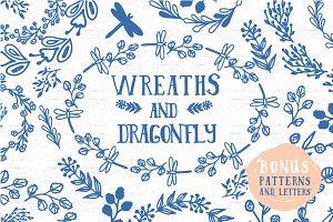 Wreaths and dragonfly + bonus