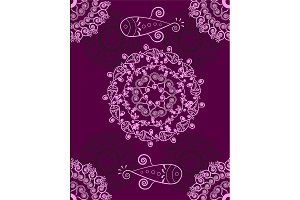 №167 Ornament purple abstract