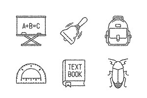 Sketched school iconset