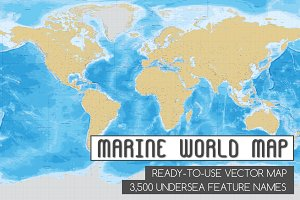 Marine World Vector Map