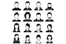 Avatars set icons