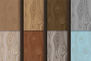 Wooden textures set