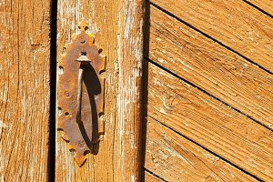 vintage old wooden door , background