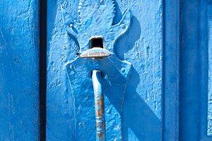 vintage old wooden door , background