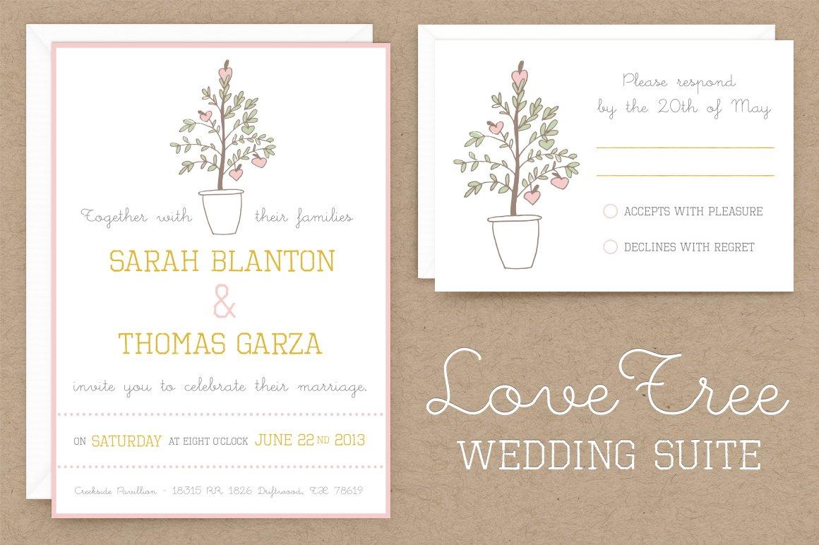 Template Wedding Invitation Wording: LoveTree Wedding Invitation Suite