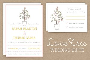 LoveTree Wedding Invitation Suite