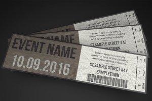 Multipurpose Stylish Event Ticket