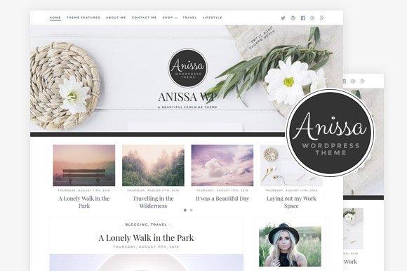 Anissa / Blog & WooCommerce Theme ~ WordPress Blog Themes ~ Creative ...