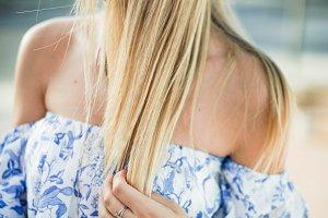 beauty of blonde hair