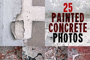Painted Concrete Photo Set - 25 HRs