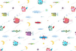 Monster Fly Fish background