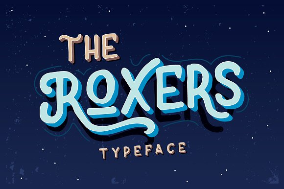 The Roxers Typeface - Display
