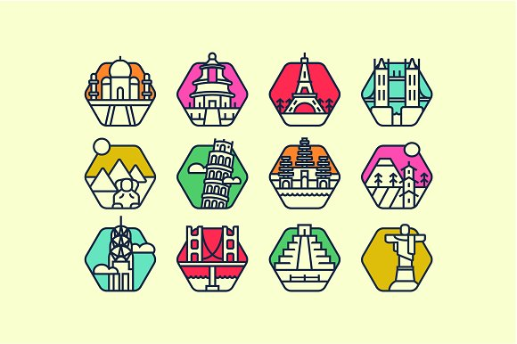 12 Landmark icon pack! in Icons