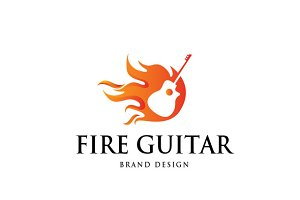 Fire Guitar Logo