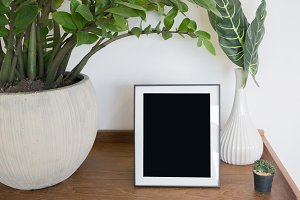 white frame,frame in room