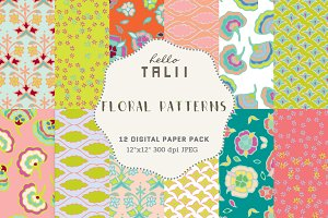 Floral Patterns Digital Papers