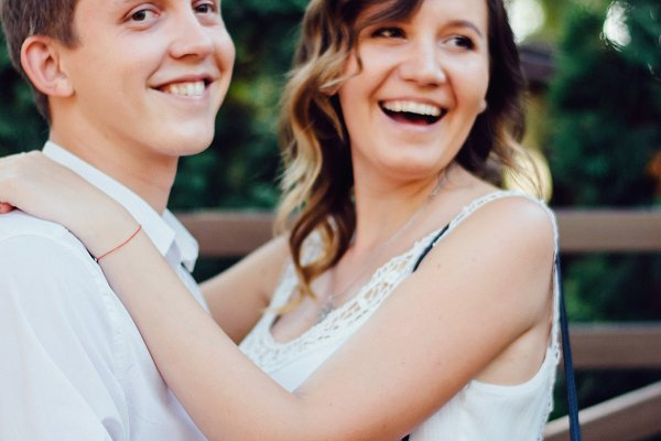 Couple kissing happiness fun. Inter…