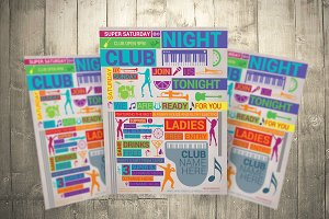 Party Flyer Color Type