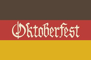 Oktoberfest vector flag of Germany.