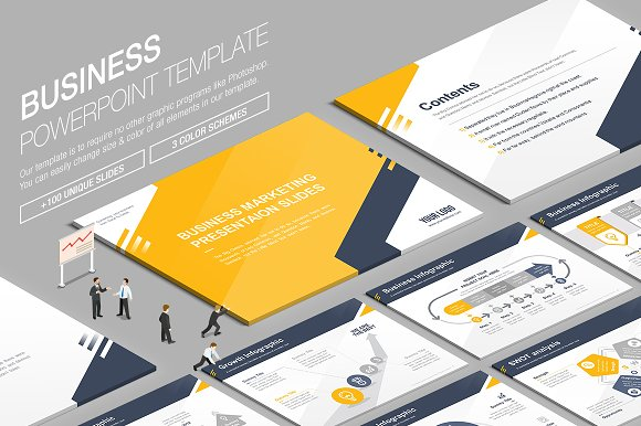 Business powerpoint template vol9 presentation templates business powerpoint template vol9 presentation templates creative market toneelgroepblik Image collections