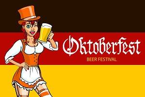oktoberfest bavarian girl.