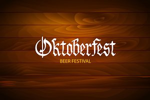 oktoberfest Retro styled label