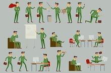 businessman in green suit