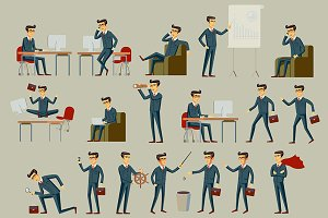 vector illustration of businessman