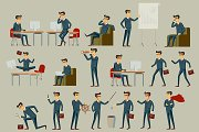 vector illustration of businessman