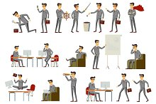 Set of business people vector art