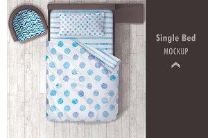Single Bed Mockup