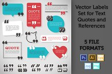 Quote Labels Vector set