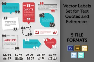 Quote Labels Vector set