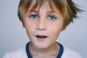 European school-age boy