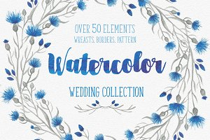 Blue flower Wedding collection