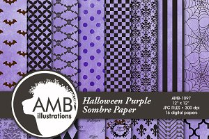 Halloween Digital Papers 1097