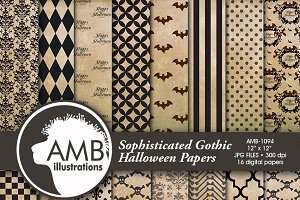 Gothic Halloween Digital Papers 1094