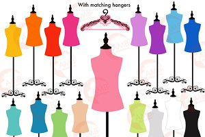 Dress Forms & Hangers Clipart 1007