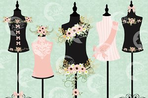 Wedding Dress Forms Florals 1098