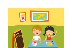 School learning concept vector