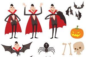 Dracula vector symbols icons