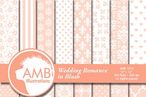Wedding Digital Papers 1012