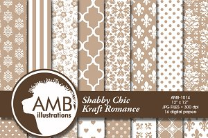 Shabby Chic Digital Papers 1014