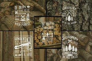 Lumberjack Vintage Labels