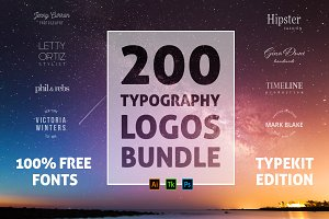 200 Typography Logos Bundle