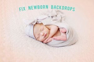 Newborn Backdrop Overlays-PS + PSE
