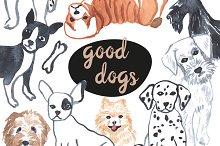 Good dog. Animal set