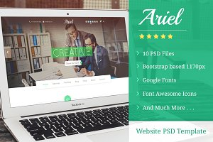 Ariel - Website PSD Template